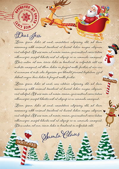 Order a personalised letter from santa australia santa at the north pole spiritdancerdesigns