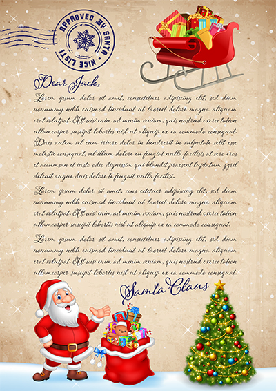 Order a personalised letter from santa australia santa and christmas tree spiritdancerdesigns Choice Image